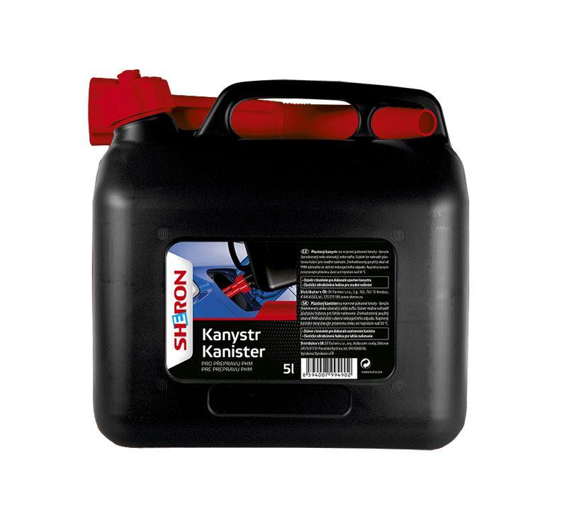SHERON Kanystr na PHM 5 lt černý