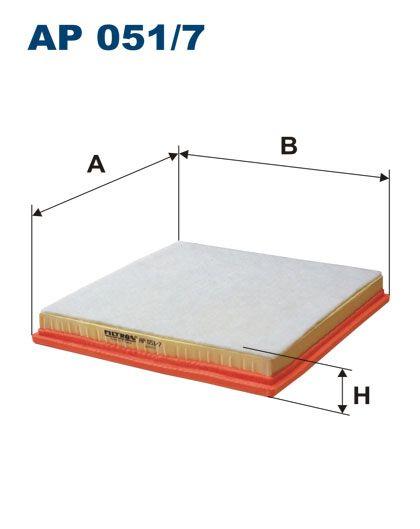 Vzduchový filtr Filtron AP 051/7