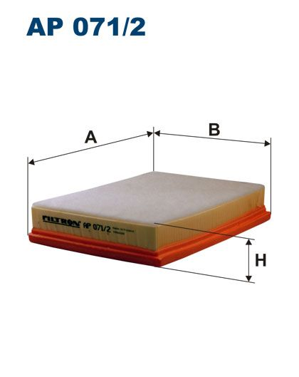 Vzduchový filtr Filtron AP 071/2