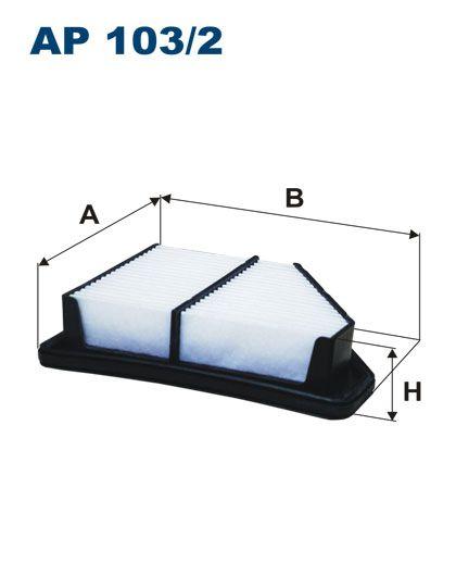 Vzduchový filtr Filtron AP 103/2