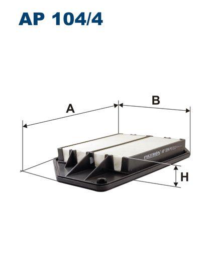 Vzduchový filtr Filtron AP 104/4