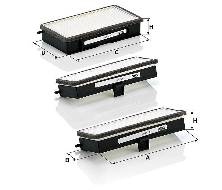 Kabinový filtr Mann-Filter CU 19 000-3