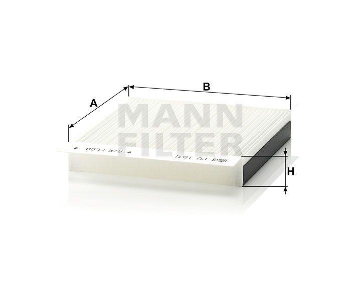 Kabinový filtr Mann-Filter CU 1931-2