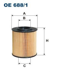 Olejový filtr Filtron OE 688/1