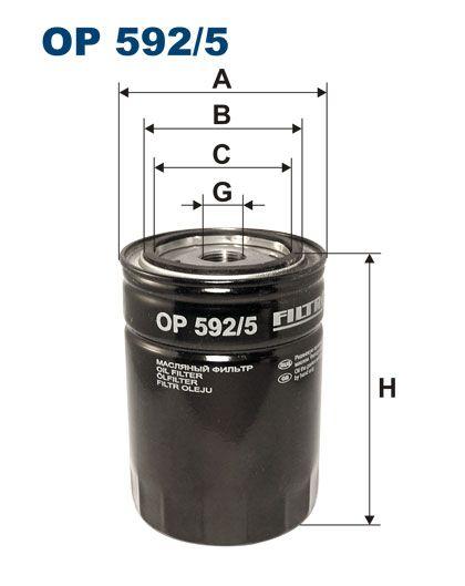 Olejový filtr Filtron OP 592/5