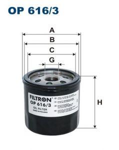 Olejový filtr Filtron OP 616/3