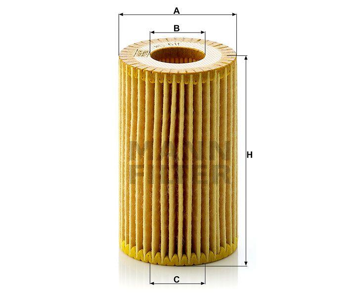 Olejový filtr Mann-Filter HU 611x