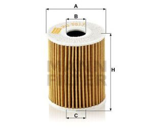 Olejový filtr Mann-Filter HU 7017 z