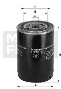 Olejový filtr Mann-Filter MW 810