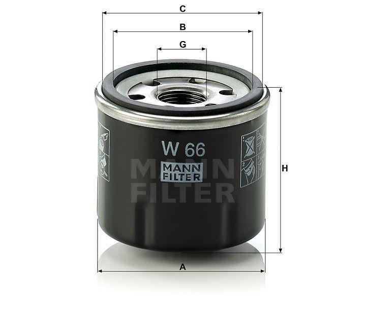 Olejový filtr Mann-Filter W 66
