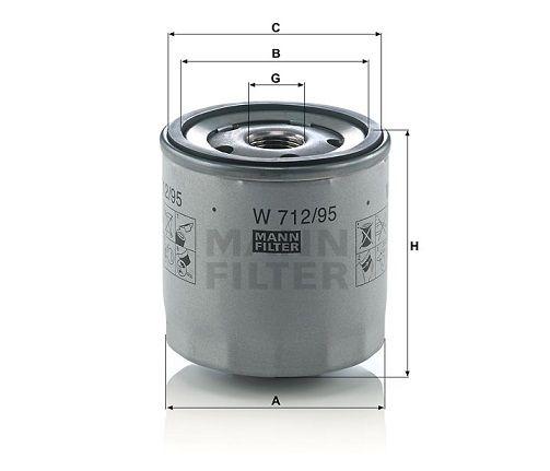 Olejový filtr Mann-Filter W 712/95