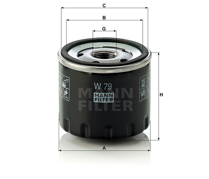 Olejový filtr Mann-Filter W 79