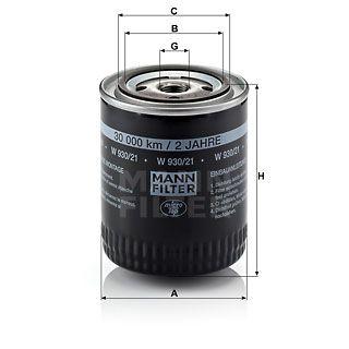 Olejový filtr Mann-Filter W 930/21
