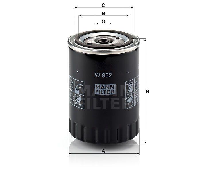 Olejový filtr Mann-Filter W 932