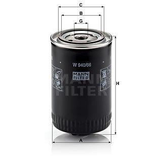 Olejový filtr Mann-Filter W 940/66