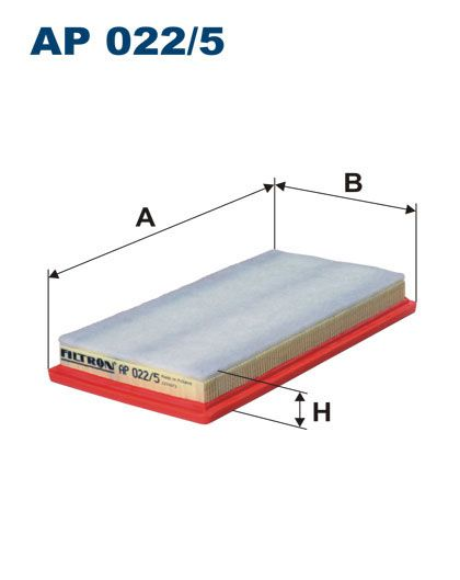 Vzduchový filtr Filtron AP 022/5