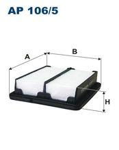 Vzduchový filtr Filtron AP 106/5