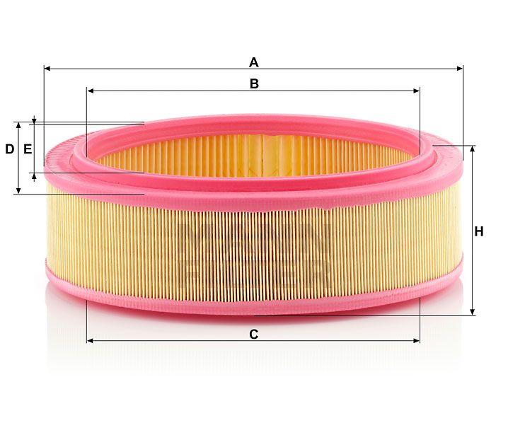 Vzduchový filtr Mann-Filter C 2672/1