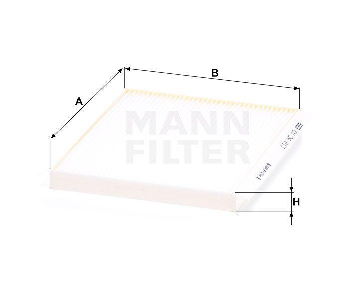 Kabinový filtr Mann filter CU 24 013 Mann-Filter