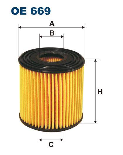 Olejový filtr Filtron OE 669