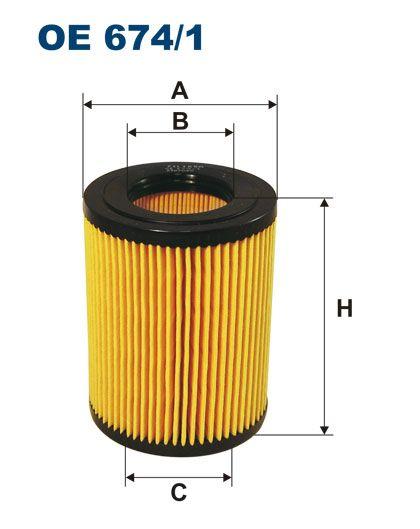 Olejový filtr Filtron OE 674/1