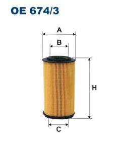Olejový filtr Filtron OE 674/3