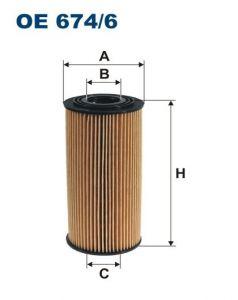 Olejový filtr Filtron OE 674/6