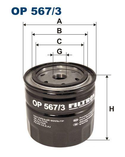 Olejový filtr Filtron OP 567/3