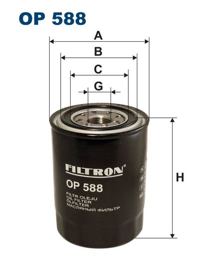 Olejový filtr Filtron OP 588