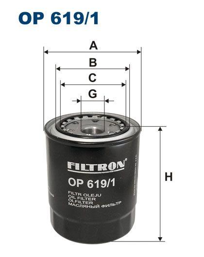 Olejový filtr Filtron OP 619/1