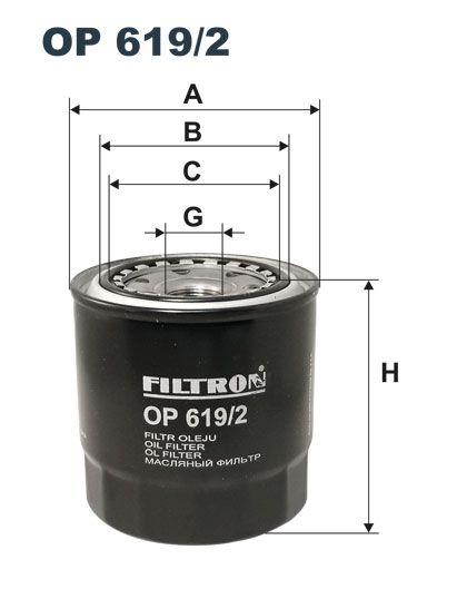 Olejový filtr Filtron OP 619/2