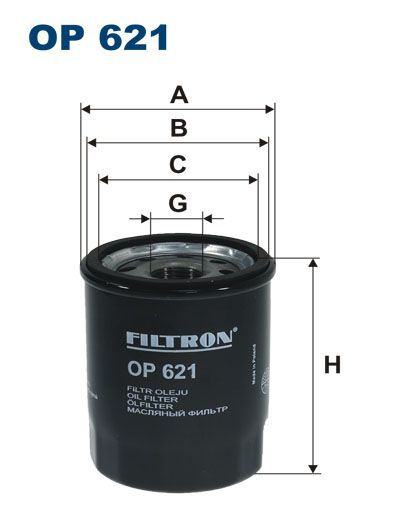 Olejový filtr Filtron OP 621 Ford
