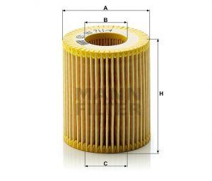 Olejový filtr Mann-Filter HU 711/4 x