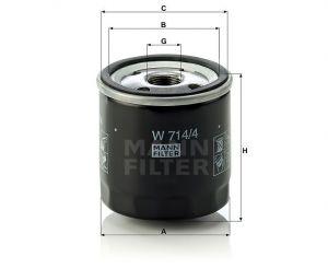 Olejový filtr Mann-Filter W 714/4