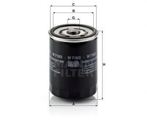 Olejový filtr Mann-Filter HU 718/2