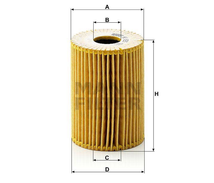 Olejový filtr Mann-Filter HU 825x