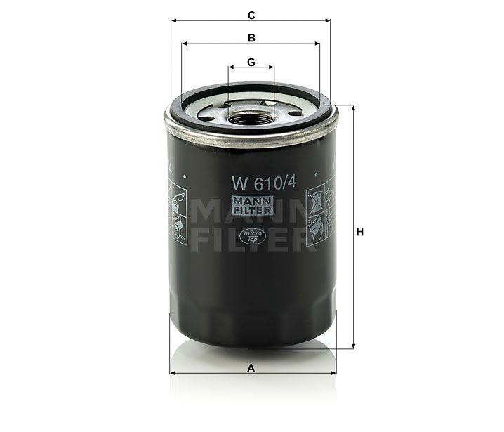Olejový Filtr Mann-Filter W 610/4