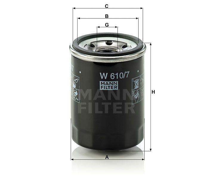 Olejový Filtr Mann-Filter W 610/7