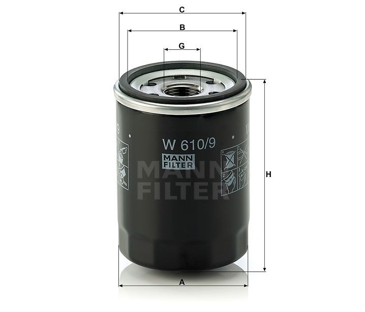 Olejový filtr Mann-Filter W 610/9