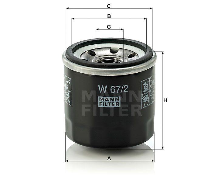 Olejový filtr Mann-Filter W 67/2
