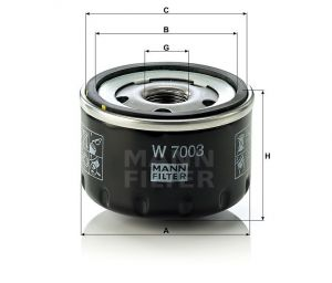 Olejový filtr Mann-Filter W 7003