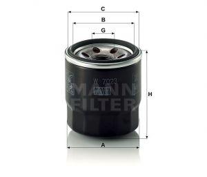 Olejový filtr Mann-Filter W 7023