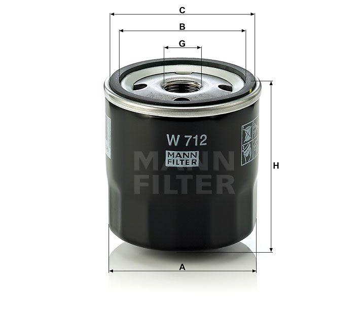 Olejový filtr Mann-Filter W 712