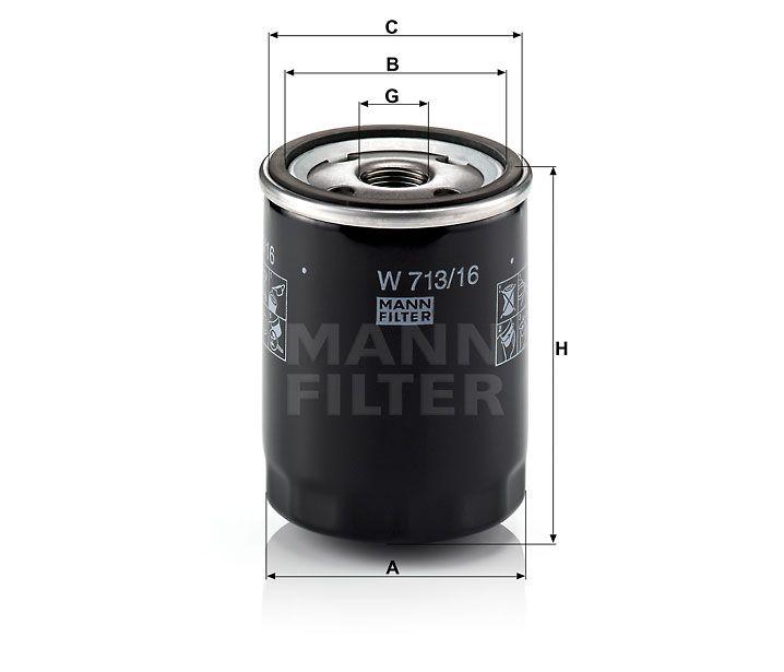 Olejový filtr Mann-Filter W 713/16