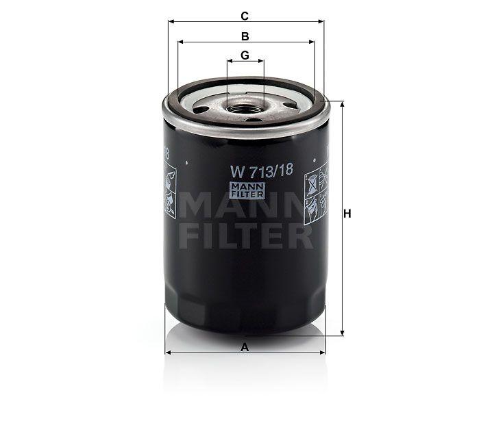Olejový filtr Mann-Filter W 713/18