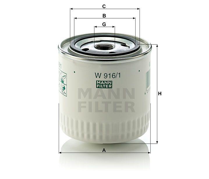 Olejový filtr Mann-Filter W 916/1