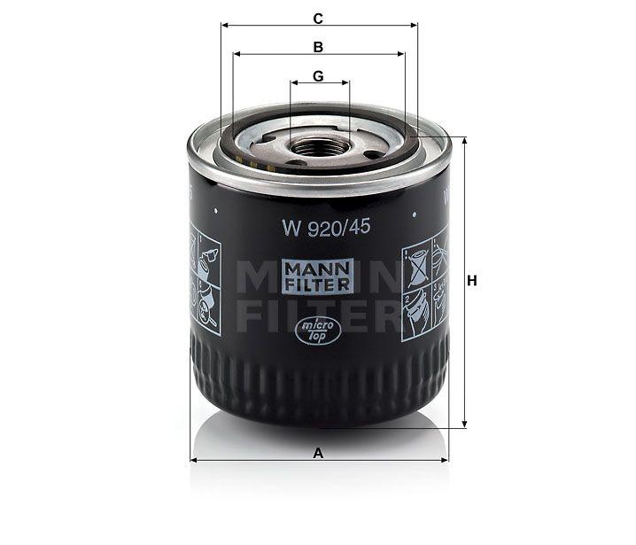 Olejový filtr Mann-filter W 920/45