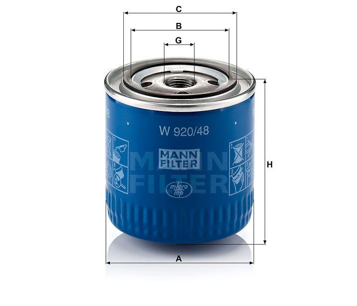 Olejový filtr Mann-filter W 920/48