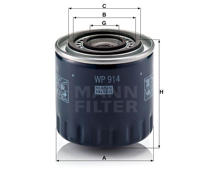 Olejový filtr Mann-Filter WP 914