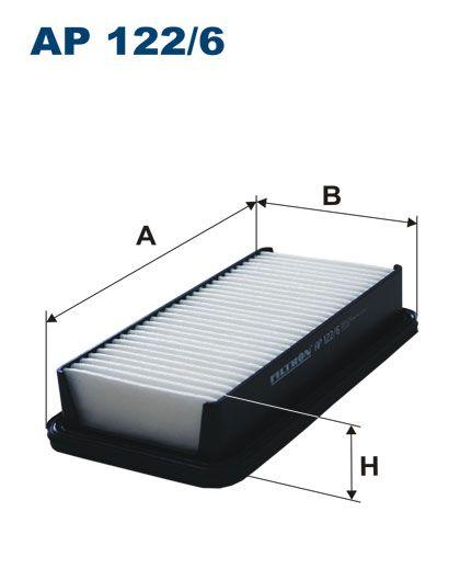 Vzduchový filtr Filtron AP 122/6